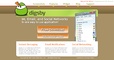 Connect with Email+IM+Social Networking sites in one go with Digsby 3