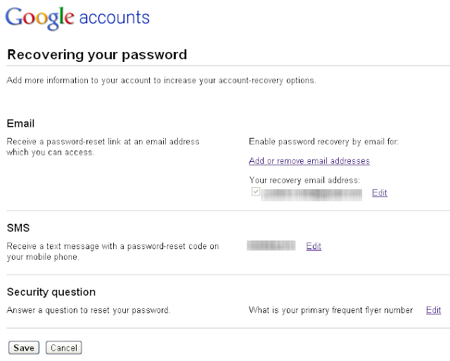 Change Your Gmail Password Recovery Options 3